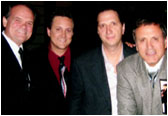 Larry with Frank Stallone and the NMW team