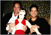 Larry with brother Michael Damian and friend.