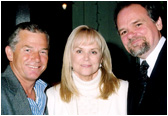 Jackie DeShannon joined Larry and his cousin Pat Weir at the recent New Music Weekly Christmas Party.