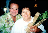 Larry Weir and his mother Maria on Mother's Day.