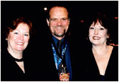 Larry with Nicki and Lynda Tice from TJ Promotions at the final Gavin convention 2002 in San Francisco.