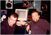 Larry and brother Tom Weir in the recording studio.
